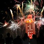 Commencement fireworks at UT.